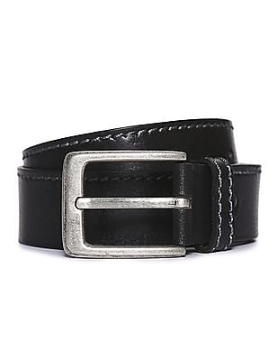 Flying Machine Stitched Leather Belt