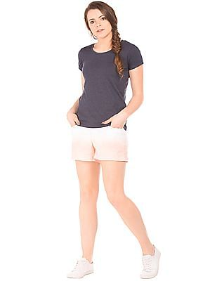 Flying Machine Women Ombre Dyed Fitted Shorts