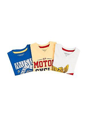 Cherokee Boys Short Sleeve T-Shirt - Pack Of 3