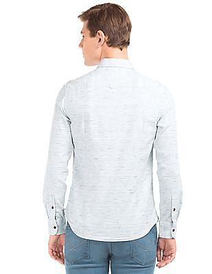 U.S. Polo Assn. Denim Co. Patterned Slim Fit Shirt