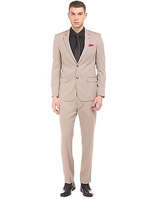 Arrow Textured Two Piece Suit