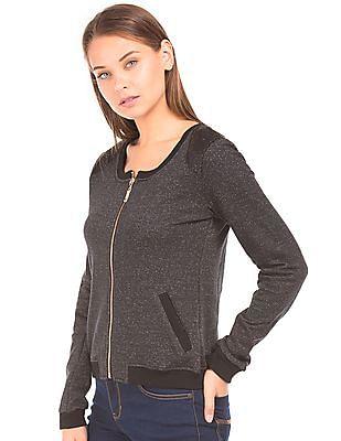 EdHardy Women Sequin Embellished Zip Up Sweatshirt