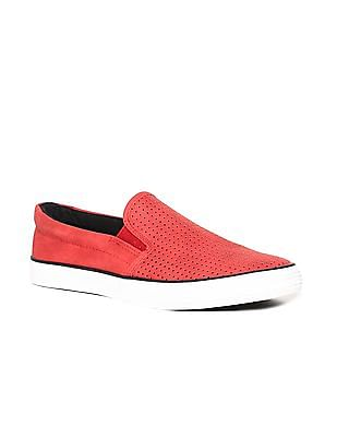 U.S. Polo Assn. Round Toe Perforated Slip On Shoes