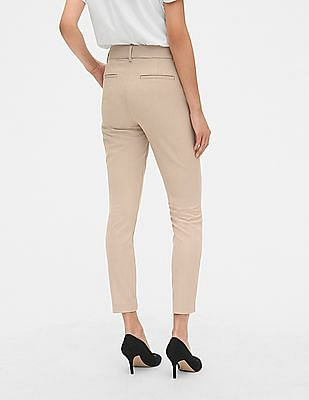 GAP Women Beige Skinny Ankle Pants With Secret Smoothing Pockets