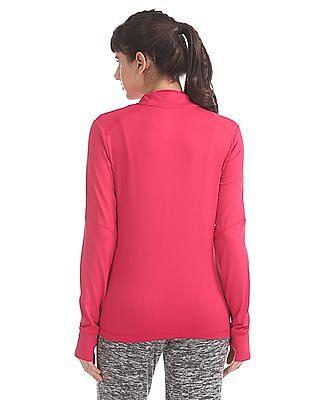 SUGR Pink Panelled Active Sweatshirt