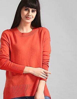 GAP Orange Crewneck Pullover Sweater Tunic