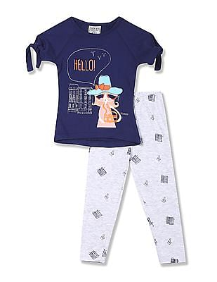 Cherokee Girls Top And Leggings Set