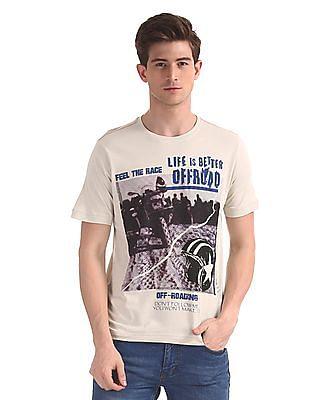 Cherokee Grey Crew Neck Graphic T-Shirt