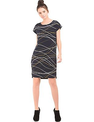 Nautica Abstract Print Shift Dress
