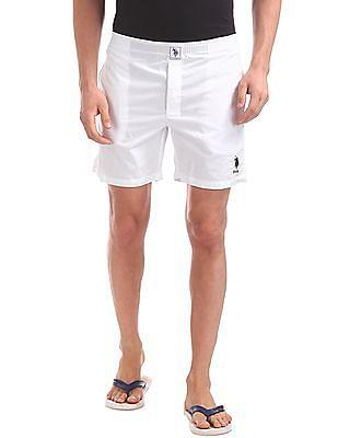 USPA Innerwear Elasticized Waist Solid Boxers