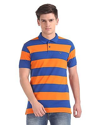 Ruggers Slim Fit Striped Polo Shirt