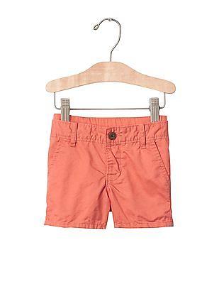GAP Baby Orange Pull On Twill Shorts