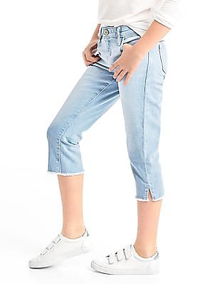 GAP Girls Blue Stretch Straight Crop Jeans
