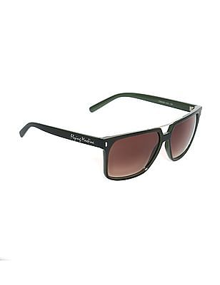 Flying Machine Green Square Frame Gradient Sunglasses