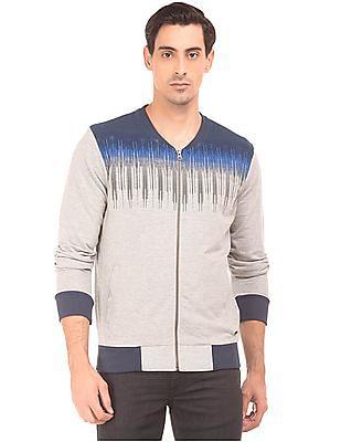 Arrow Newyork Printed Zip Up Sweatshirt