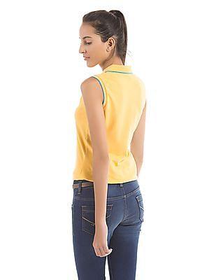 U.S. Polo Assn. Women Regular Fit Sleeveless Polo Shirt