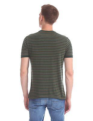 Cherokee Crew Neck Stripe T-Shirt
