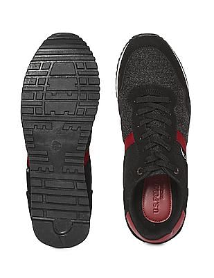 U.S. Polo Assn. Contrast Trim Mid Top Sneakers