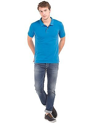 Flying Machine Solid Regular Fit Polo Shirt