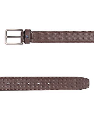 Arrow Sports Brown Perforated Leather Belt