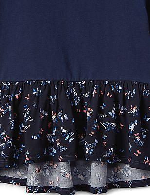 GAP Girls Print Peplum T-Shirt