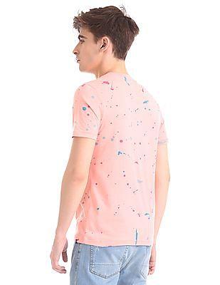 Aeropostale Regular Fit Splatter Print T-Shirt