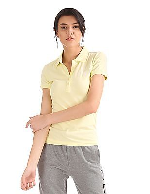 Aeropostale Solid Jersey Polo Shirt