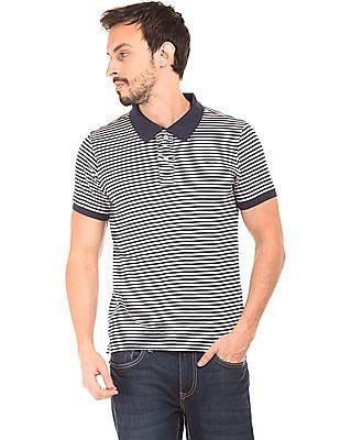 Flying Machine Striped Polo Shirt