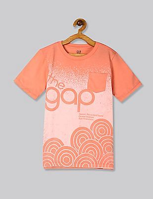 GAP Orange Boys 50th Short Sleeve T-Shirt