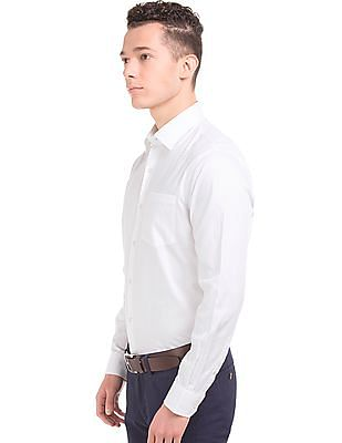 Arrow Textured French Placket Shirt