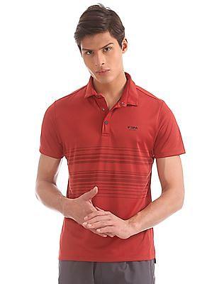USPA Active Striped Active Polo Shirt