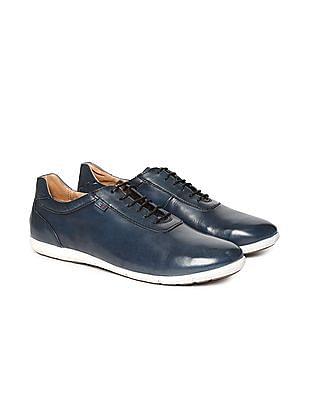 Arrow Sports Contrast Sole Leather Sneakers