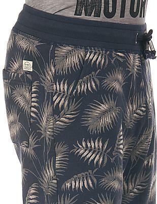 Ed Hardy Drawstring Waist Printed Shorts