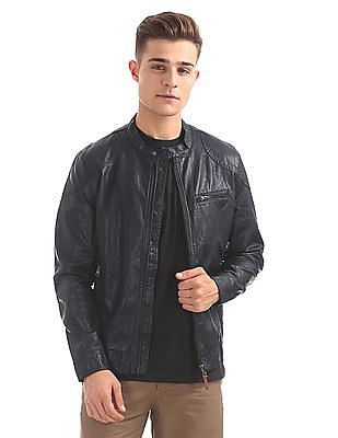 U.S. Polo Assn. Denim Co. PU Biker Jacket