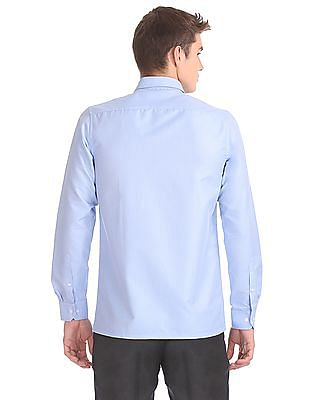 Excalibur Forward Point Collar Patterned Shirt