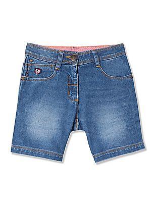 U.S. Polo Assn. Kids Girls Standard Fit Denim Shorts