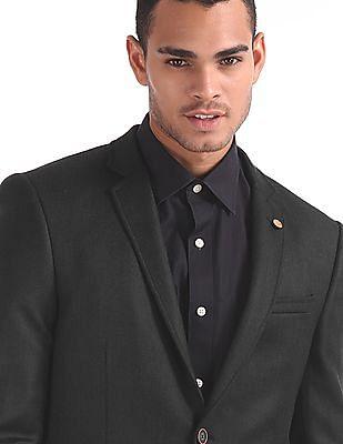 Arrow Zero Calorie Slim Fit Patterned Weave Blazer