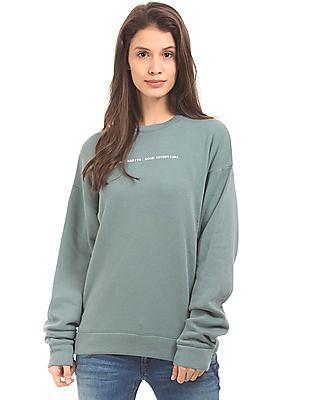 Aeropostale Round Neck Boxy Sweatshirt