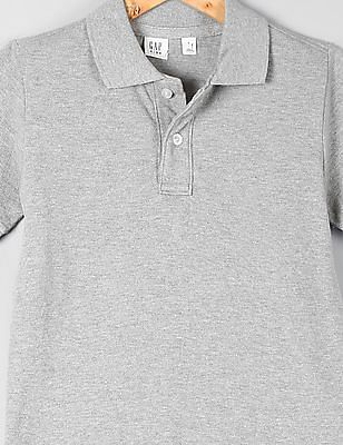 GAP Boys Pique Short Sleeve Polo