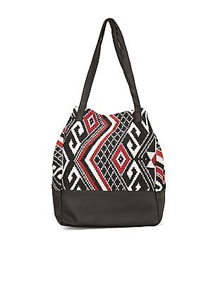 SUGR Tribal Pattern Canvas Tote Bag