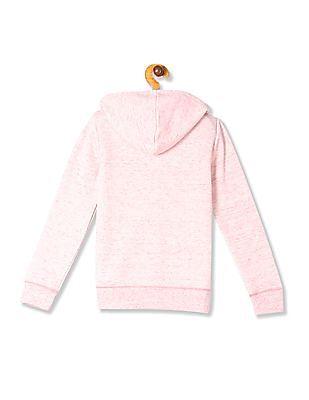 The Children's Place Girls Pink  Hooded Zip Up Sweatshirt