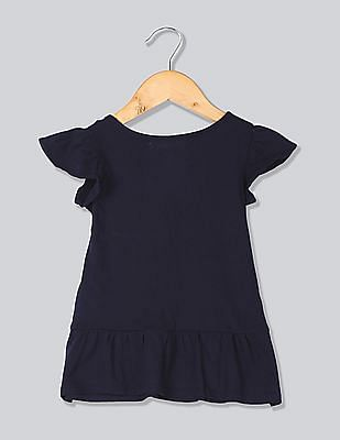 GAP Baby Logo Appliqued Peplum Top