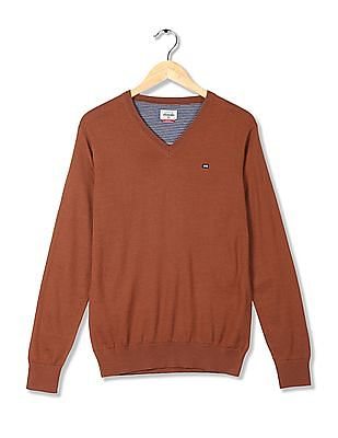 Arrow Sports V-Neck Merino Wool Blend Sweater