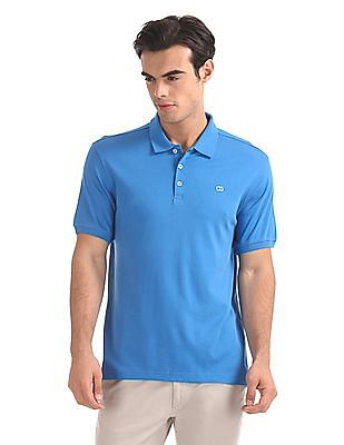 Roots by Ruggers Regular Fit Solid Polo Shirt