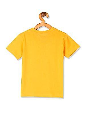 Cherokee Yellow Boys Cotton Jersey Printed T-Shirt