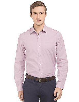 Arrow Patterned Slim Fit Shirt