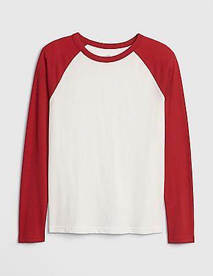 GAP White Boys Raglan T-Shirt