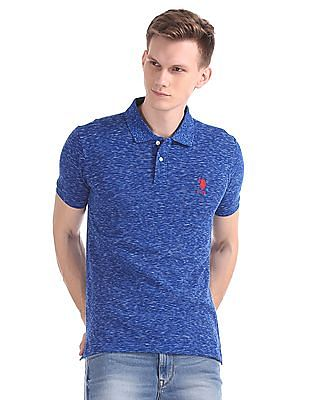 U.S. Polo Assn. Short Sleeve Heathered Polo Shirt