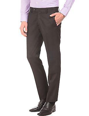 Arrow Patterned Slim Fit Trousers