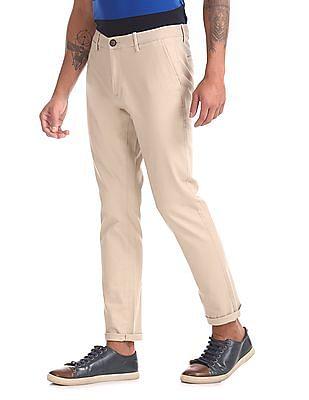Ruf & Tuf Slim Fit Flat Front Chinos
